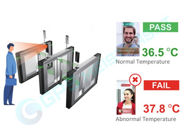 Kūno temperatūros matavimo sistema su veido atpažinimu