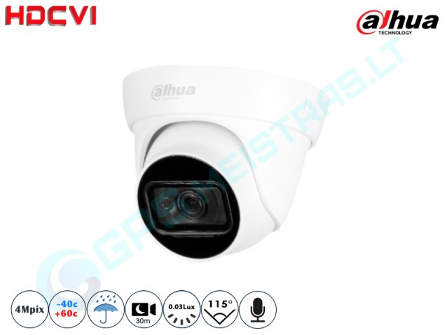 Kupolinė CVI kamera 4Mpix raiška, 1400