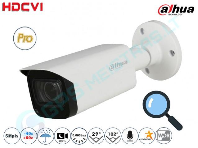 Cilindrinė CVI kamera 5Mpix raiška, zoom 4x 2501