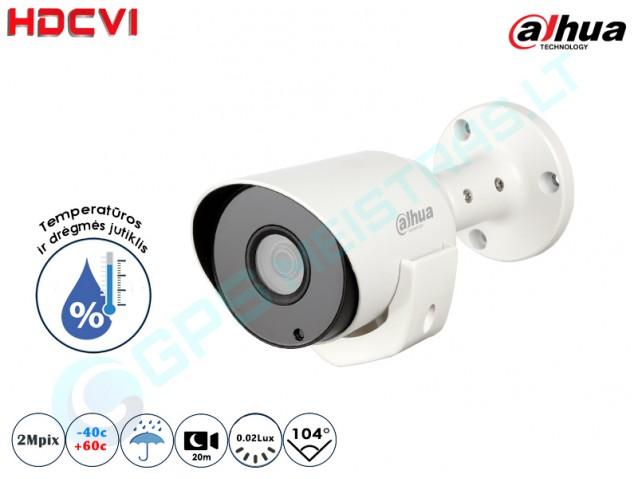 Cilindrinė CVI kamera 2Mpix raiška  1220 ioT