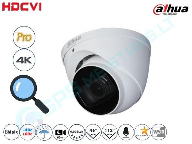 Kupolinė CVI kamera 8 Mpix raiška, zoom 4x, 2802