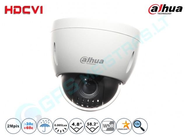 Valdoma HD-CVI vaizdo kamera, 2 MP, zoom 12x 4KLASĖ