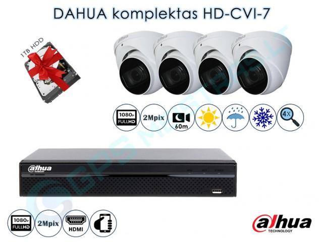 Vaizdo kamerų komplektas HD-CVI 7