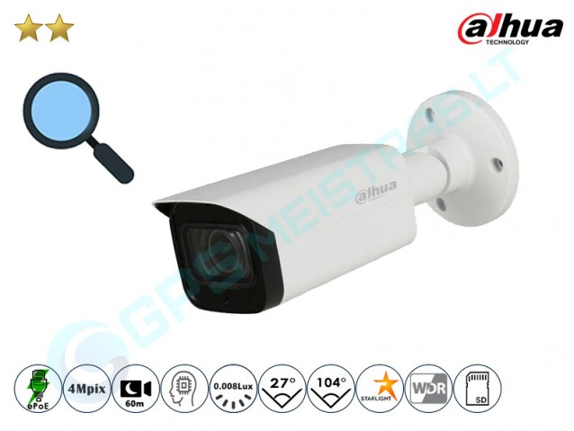 Cilindrinė IP kamera 4Mpix raiška, zoom 4x, 2431T-Z