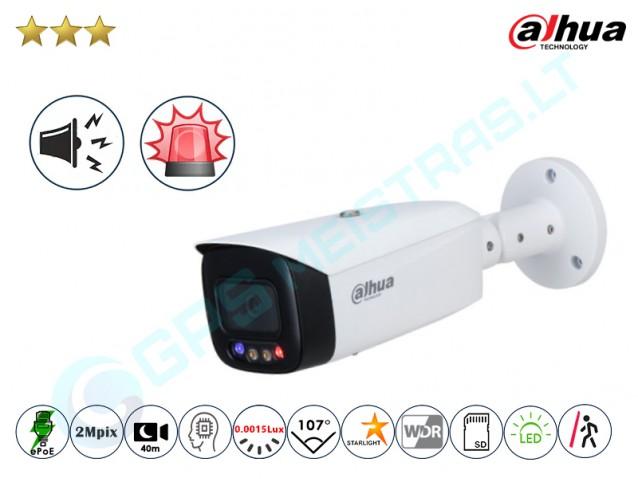 Cilindrinė IP kamera 3249F su LED, sirena ir švyturėliais