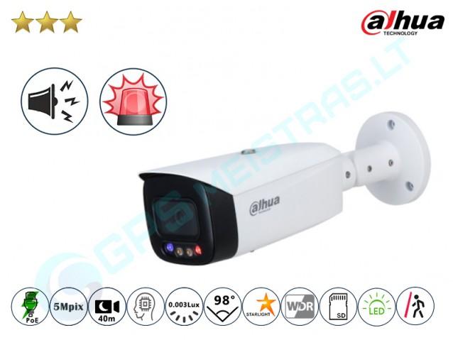 Cilindrinė 5MP IP kamera 3549F su LED, sirena ir švyturėliais