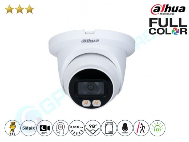 Kupolinė IP kamera 5Mpix raiška, 3549D su LED