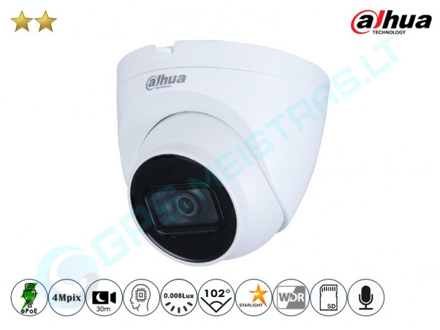Kupolinė IP kamera 4Mpix raiška, 2431D