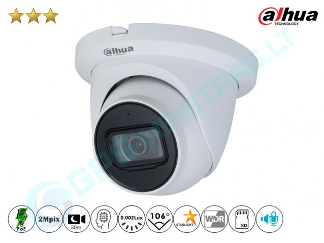 Kupolinė IP kamera 2Mpix raiška, 3241T