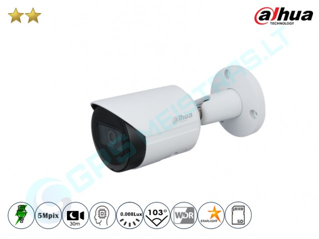 Cilindrinė IP kamera 5Mpix raiška, 2531F
