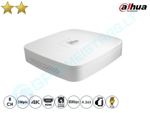 Dahua IP NVR įrašymo įrenginys 2108 PoE