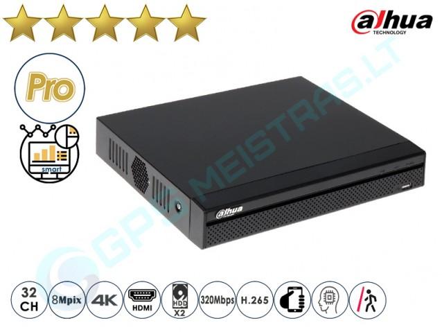 Dahua IP NVR įrašymo įrenginys 5232 4K