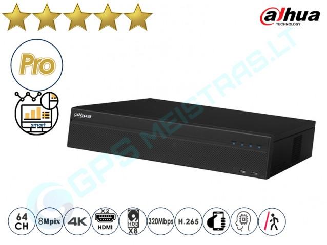 Dahua IP NVR įrašymo įrenginys 5864 4K