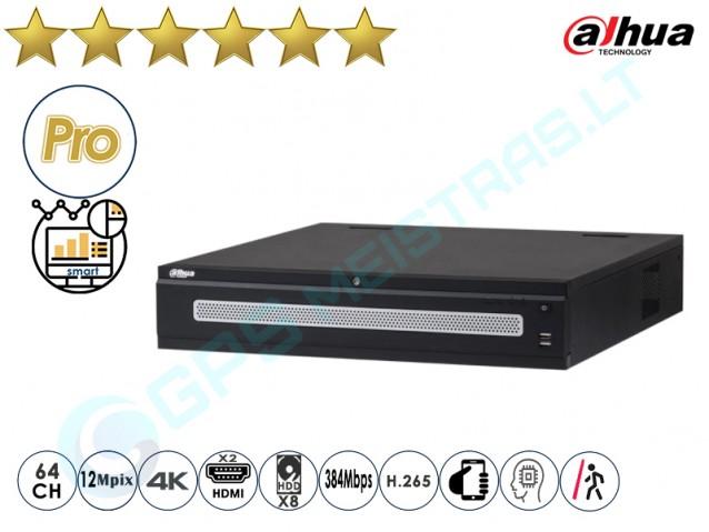 Dahua IP NVR įrašymo įrenginys 608 64 4K