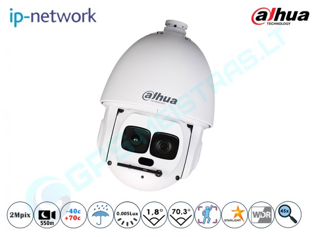 Valdoma IP kamera, 2Mpix raiška, zoom 45x, 6AL245