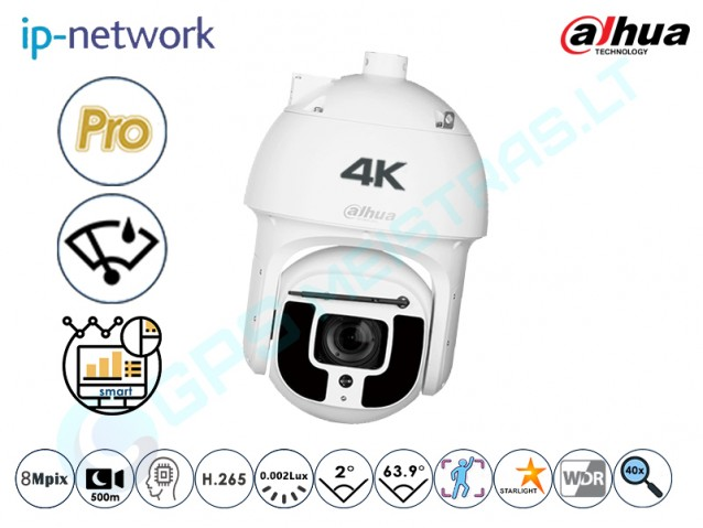 Valdoma IP kamera, 4K raiška, zoom 40x, 8A840