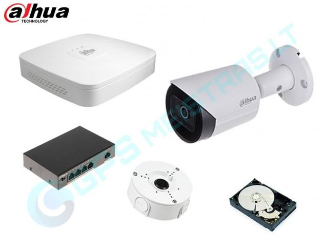 DAHUA IP vaizdo kamerų komplektas 2.2231F