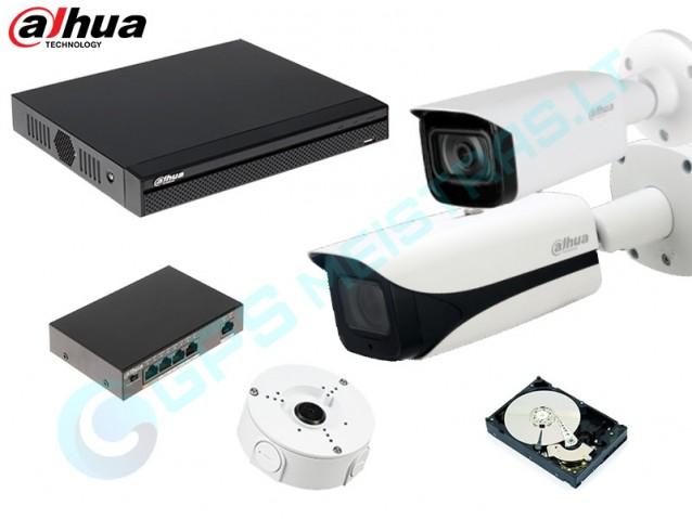 DAHUA IP vaizdo kamerų komplektas 4.5442F