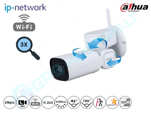 Valdoma IP kamera, 2Mpix raiška, zoom 3x, AI, 203