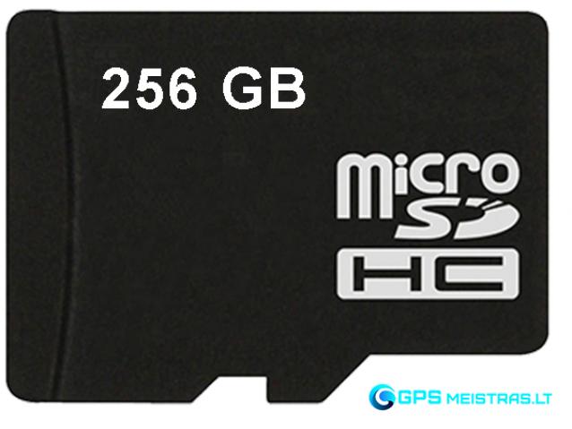 Atminties kortelė 256GB microSD, U3, V30 klasė