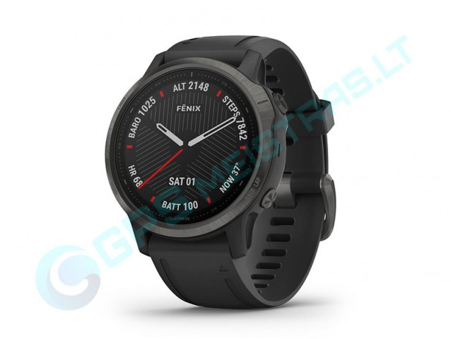 Išmanusis laikrodis fenix6s Sapphire CarbonGrey/Black