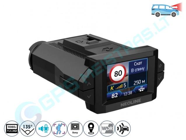 Neoline X-COP 9300s vaizdo registratorius su detektoriumi