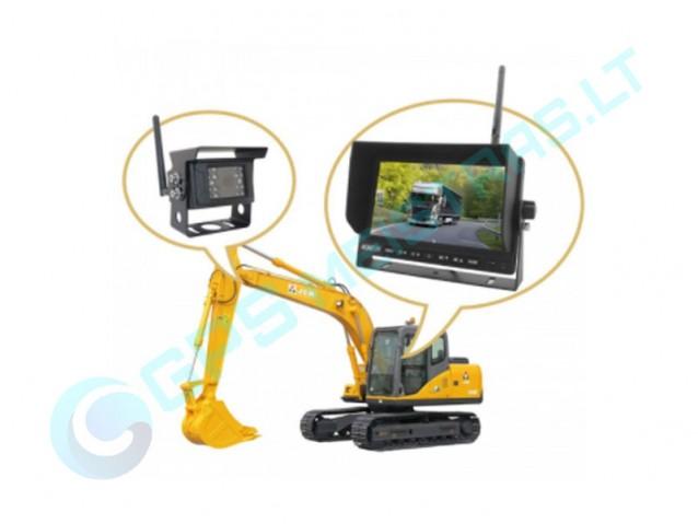 WiFi galinio vaizdo kameros sunkvežimiams, žemės ūkio technikai