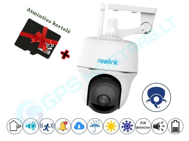 Reolink PT WiFI valdoma kamera su akumuliatoriumi