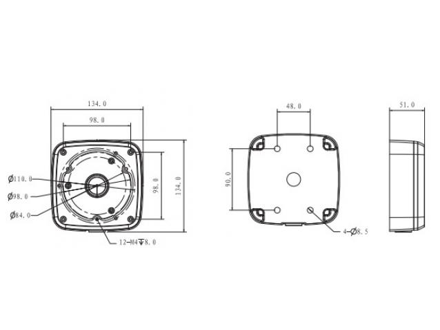 Vaizdo kameros laikiklis / sujungimo dėžutė, PFA123