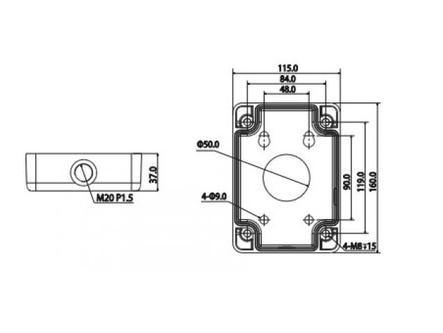 Vaizdo kameros laikiklis / sujungimo dėžutė, PFA120
